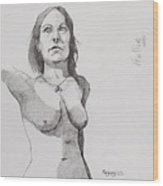 Hollie In Pen Wood Print