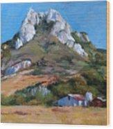 Hollister Peak Wood Print