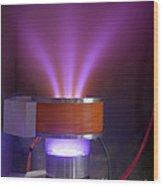 Hollow-anode Nitrogen Plasma Source Wood Print