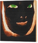Holloween Mask Wood Print
