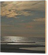 Holly Beach Sunset Wood Print