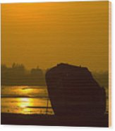 Holly Hill Wreck Sunset Wood Print