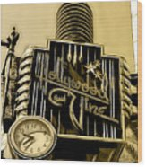 Hollywood And Vine Street Sign Collection Wood Print