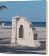 Hollywood Beach Wall In Color Wood Print