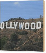 Hollywood Wood Print