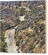 Hollywood Sign / Hollywood Hills Wood Print
