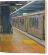 Hollywood Subway Station Wood Print