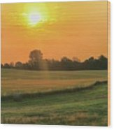 Holmes County Sunrise Wood Print