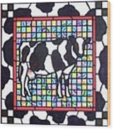 Holstein 3 Wood Print