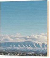 Holston Mountain Over Bristol Va/tn Wood Print