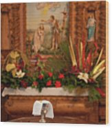 Holy Communion Wood Print