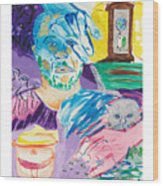 Holy Communion Self Portrait The Second Wood Print