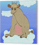 Holy Cow Wood Print
