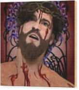 Holy Face Of Ecce Homo Wood Print