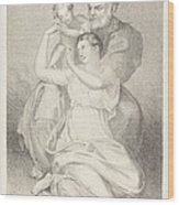 Holy Family, From Michelangelo Wood Print