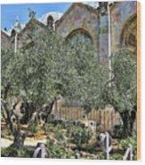 Holy Gardens Wood Print