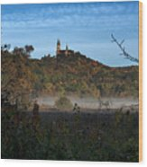 Holy Hill In Fall Wood Print