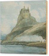 Holy Island Wood Print