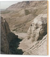 Holy Land: Qumran Caves Wood Print