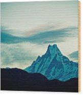 Holy Mount Fish Tail Machhapuchare 6998 M Wood Print