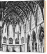 Holy Name Cathedral Chicago Bw 03 Wood Print