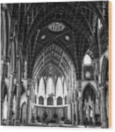 Holy Name Cathedral Chicago Bw 04 Wood Print