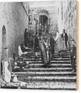 Holy Sepulchre Stairs Wood Print