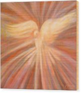 Holy Spirit Appearing As A Dove Wood Print by Kip Decker