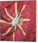 Holy Spirit Flag Wood Print