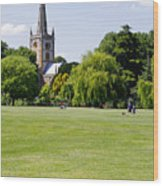 Holy Trinity Church At Stratford Upon Avon Wood Print