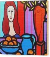 Homage To Modigliani II Wood Print