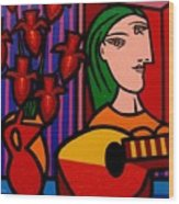 Homage To Picasso Wood Print