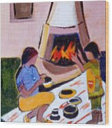 Home And Hearth In Taos Wood Print