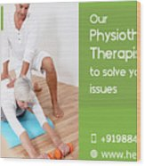 Home Care Medical Services Wood Print