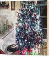Home For Christmas Wood Print