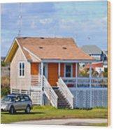 Home In Nags Head 3 Wood Print