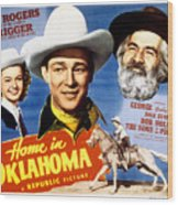 Home In Oklahoma, Dale Evans, Roy Wood Print by Everett