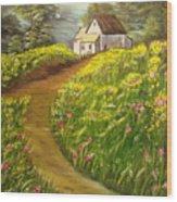 Home In Springtime Wood Print