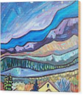 Home In The Hills Wood Print