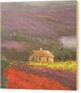 Home In The Hills Of Tuscany Wood Print