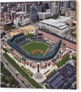 Home Of The Orioles - Camden Yards Wood Print
