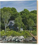 Home On Little Diamond Island Wood Print
