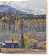 Home On The Gore Range Wood Print