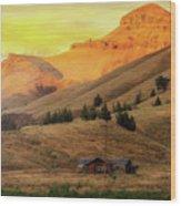Home On The Range In Antelope Oregon Wood Print