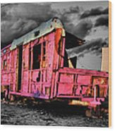 Home Pink Home Black And White Wood Print