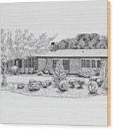 Home Portrait 2040 Wood Print