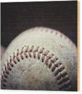 Home Run Ball Wood Print by Lisa Russo
