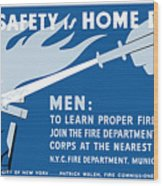 Home Safety Is Home Defense Wood Print by War Is Hell Store