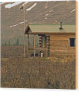 Home Sweet Fishing Home In Alaska Wood Print