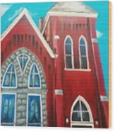 Home Town Church Wood Print